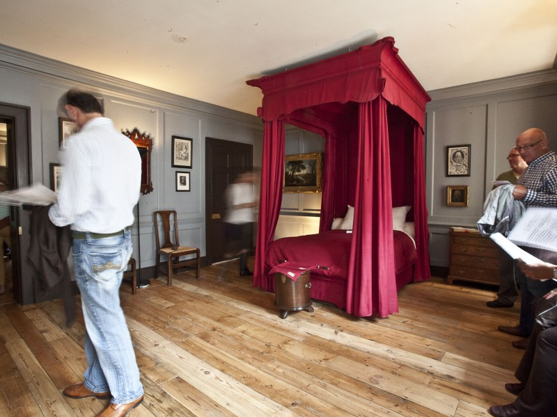 Handel's Bedroom and link to ticket prices.
