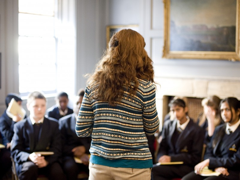 A guided school visit to 25 Brook Street, Mayfair.