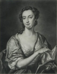 black & white portrait of Elizabetta Du Parc