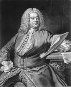 engraving of Handel