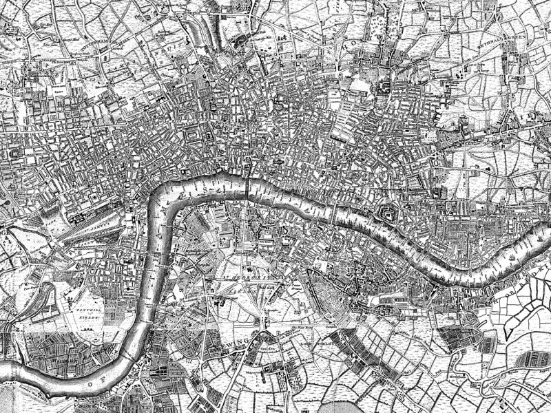 Map of London, 1741-1745. Link to directions..