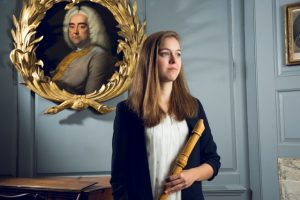 Portrait of Tabea Debus, recorder player and Handel House Talent musician for 2017