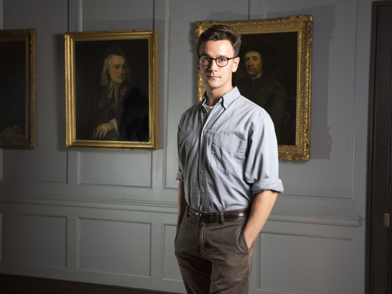 Portrait of Alex Groves the Handel House Composer-in-Residence for 2017-2018