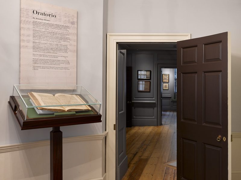 An exhibition on Handel's Music at his house at 25 Brook Street.