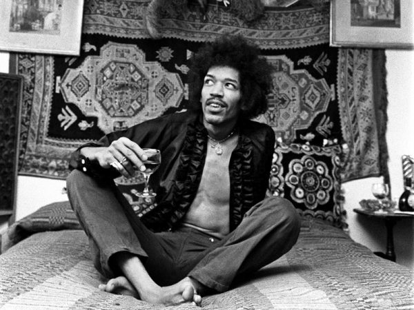 Jimi Hendrix at 23 Brook Street, London