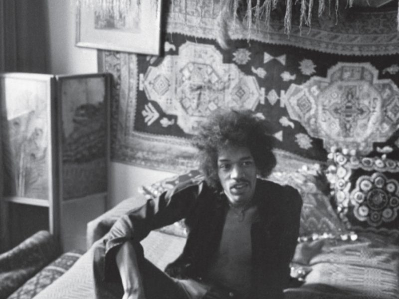 Jimi Hendrix at 23 Brook Street London in 1969